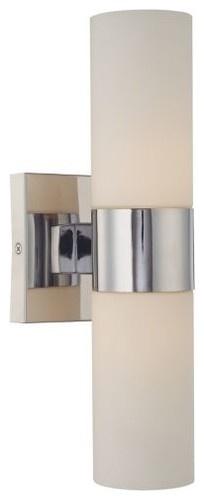 Minka-Lavery $85  2 60w incandescent bulbs  Bath Bar No. 6212 modern bathroom lighting and vanity lighting