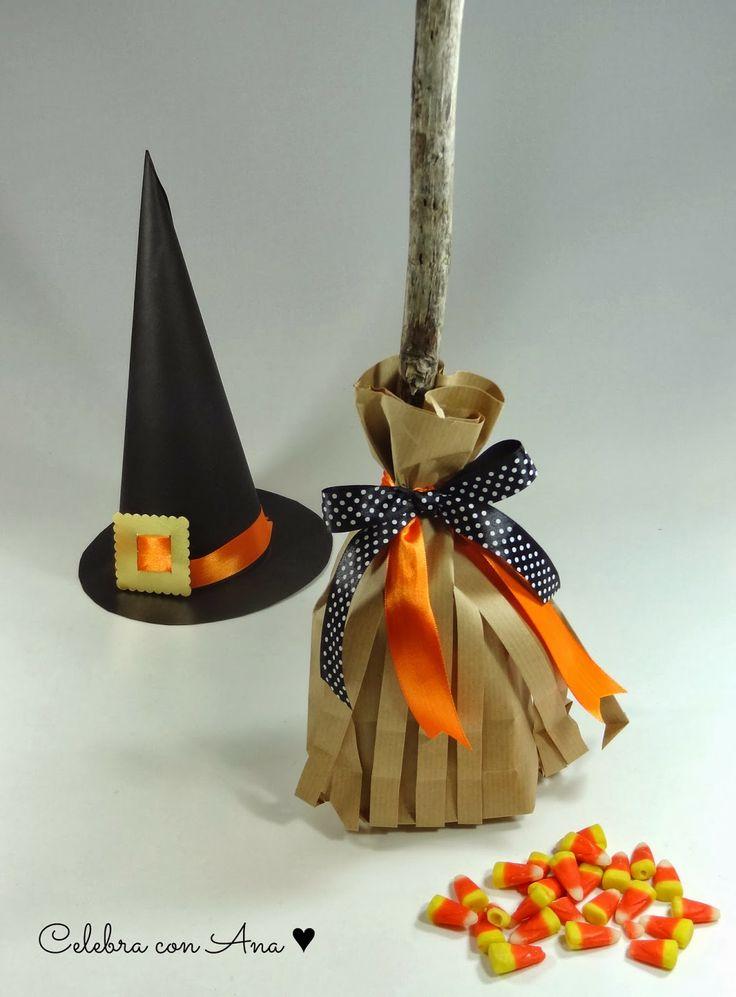 Escobitas chuches Halloween