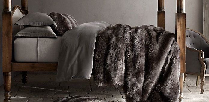 Exotic Faux Fur Blanket Restoration Hardware Game Of