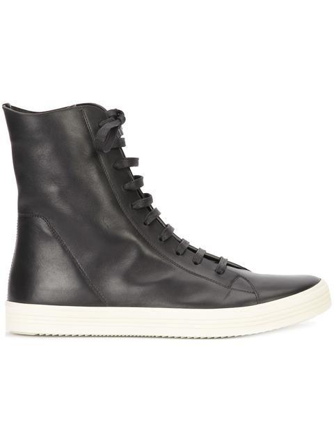 Shop Rick Owens hi-top sneakers.