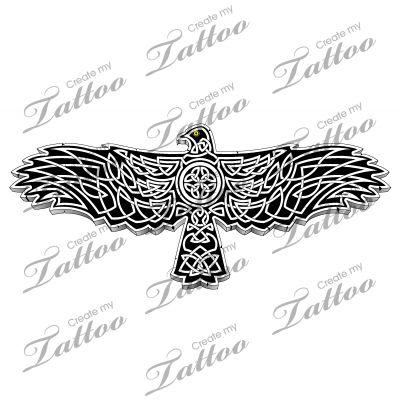 Marketplace Tattoo Celtic hawk #22170 | CreateMyTattoo.com