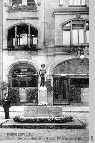 Königsberg Pr.  Der neue Brunnen auf dem Steindammer Markt