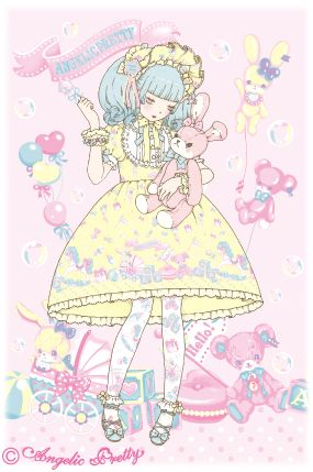 Angelic Pretty Dreamy Baby Room illustration by 今井キラ