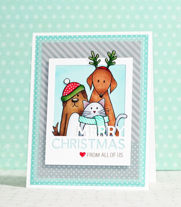 Simon Says Clear Stamps FURRY CHRISTMAS Friends Pets sss101204 at Simon Says STAMP!