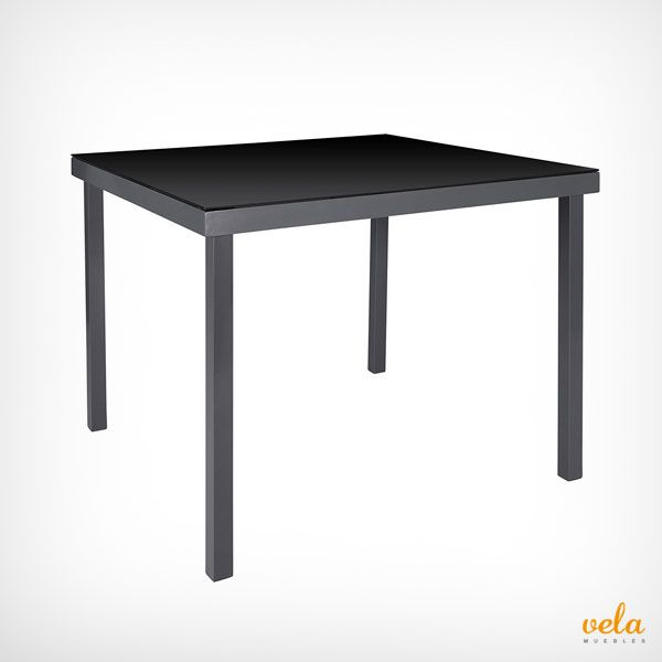 Mesa de jardín de aluminio color negro en oferta. Echa un vistazo y mírala de cerca.