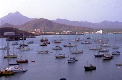 Yachts in Porto Grande, Mindelo on the island of São Vicente, Cape Verde