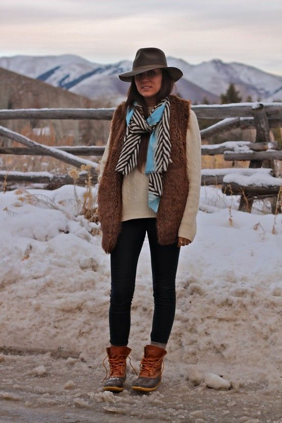 I WANT A HAT LIKE THIS!!!!!: Llbean, Bean Boots, Winter Layered, Boots Outfits, Ll Beans Boots, Outfits Posts, Fall Wins, Shut Up, Ducks Boots