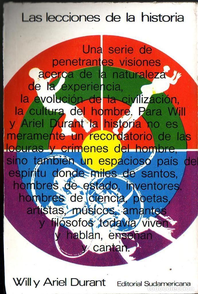 Las lecciones de la historia. Will y Ariel Durant. Editorial: Editorial Sudamericana. (1969). - Foto 1