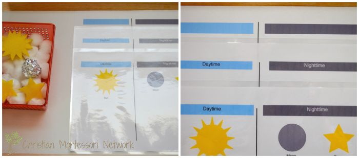 daytime and nighttime printable activity