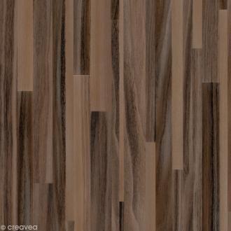 Adhésif Venilia Perfect - Bois lamellé brun - 200 x 45 cm