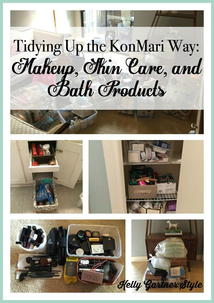 I'm using Marie Kodo's method of decluttering and organizing called KonMari. It truly is life-changing! Read about how I KonMaried my bath and beauty products.