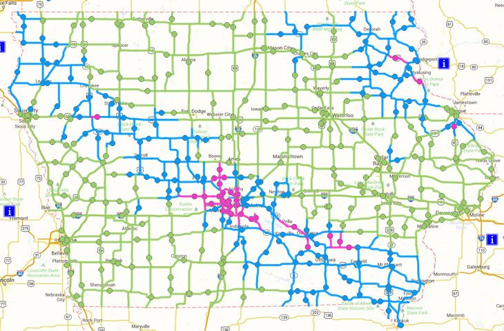 Here's what new colors on the road conditions map mean | Local News  - KCCI Home