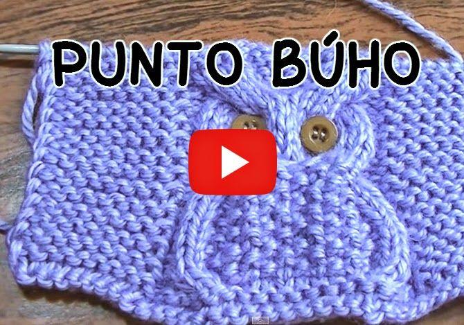 Crochet y dos agujas: Aprende a tejer con dos agujas: Punto Búho en vide...