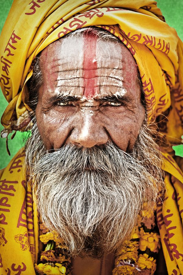 A Hindu Ascetic in Kathmandu, common sight in Indian Subcontinent -mainly Nepal and India.