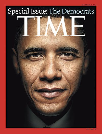 Past presidential election covers of Time Magazine: Barack Obama, September 1, 2008