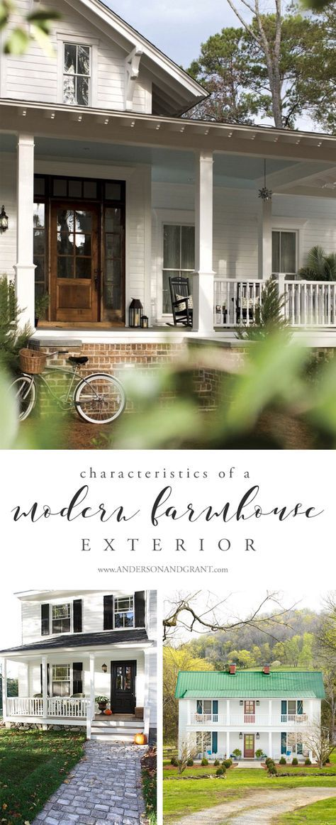 Characteristics of a Modern Farmhouse Exterior