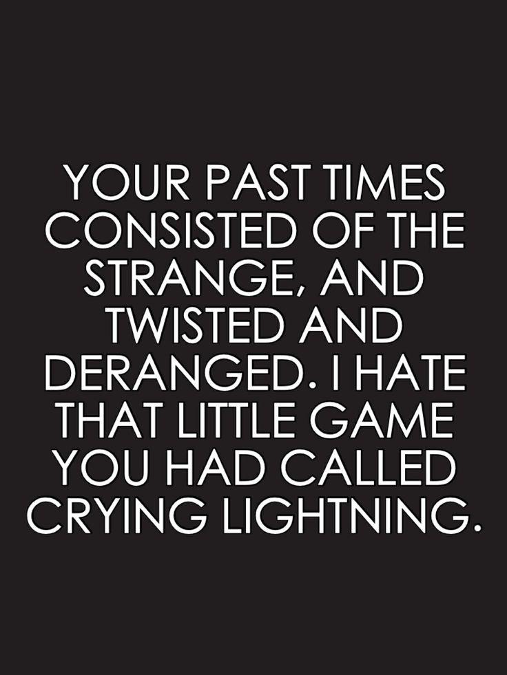 Arctic Monkeys - Crying Lightning quote.