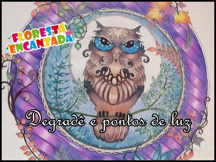Livro de Colorir Floresta Encantada - Coruja | Luciana Queiróz