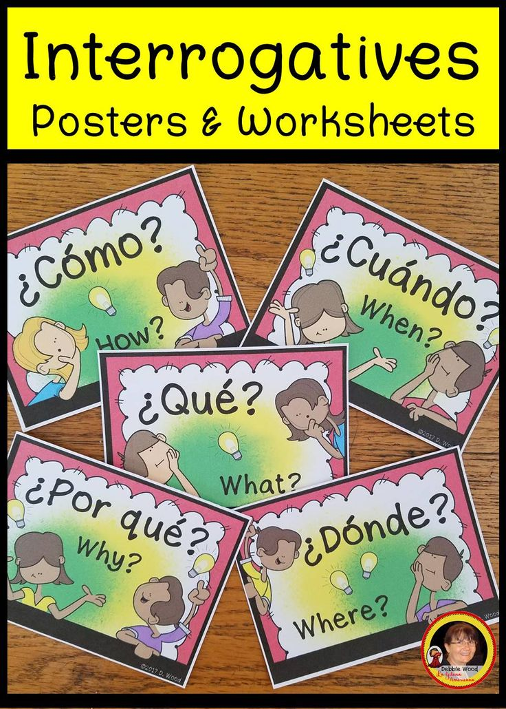 Grade 1 Worksheets English  Best My Spanish Resources Images On Pinterest  Spanish  Free Shape Worksheets with Present Continous Worksheet Pdf Great Resource For Reviewing The Spanish Interrogative Words Includes  Worksheets Conversation Cards Directions Irregular Past Tense Verb Worksheet Word