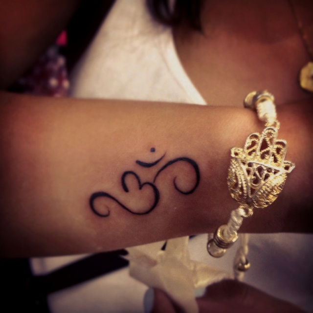 om tattoo - OM' enables us to maintain mental and emotional calmness, overcome obstacles, and enable understanding""