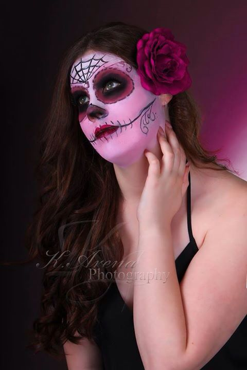Bit of face paint fun day of the dead face painting