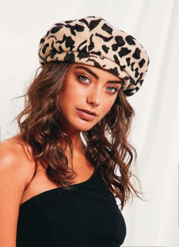 Audrey Lw Beret - Leopard