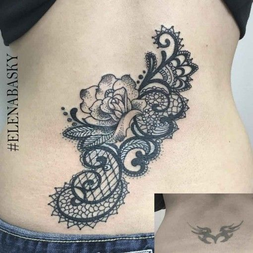 lower back tribal tattoo cover up - Google Search