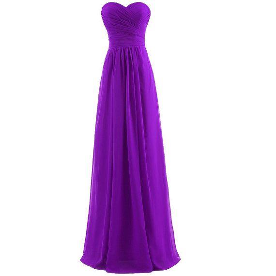 Purple demoiselle d'honneur robes robes de soirée par dressestime, $96.99