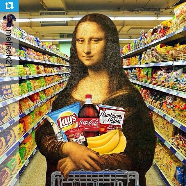 Shopping Mona Lisa