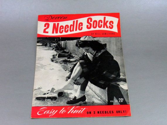 Doreen 2 Needle Socks Vol. 93 Easy to Knit by WhatnotsAndFancifuls