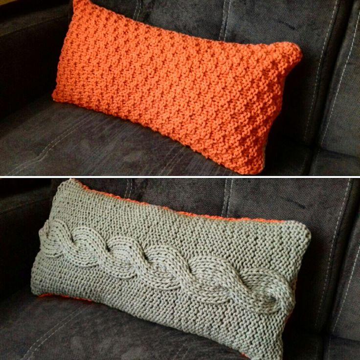 Kniting pillow / poduszka na drutach