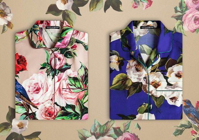 Dolce & Gabbana Pyjama Party - Elegant Floral Prints for the Summer 2016 Season.
