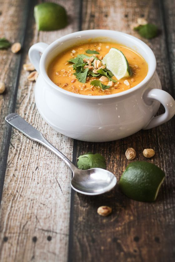 Thai Sweet Potato and Carrot Soup - quick, easy, and so delicious!