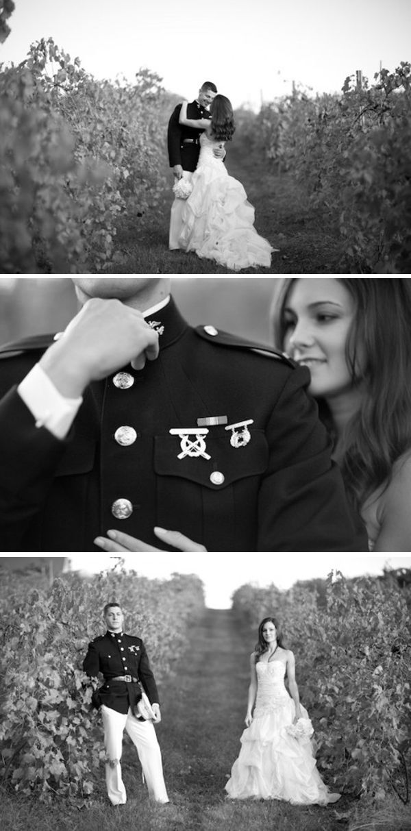 beautiful military wedding portraits // by Michelle Cross Photography
