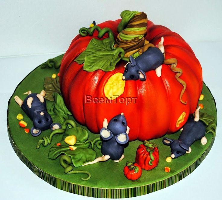 Торт Тыква и мыши. Заказ торта в Москве на день рождения для детей