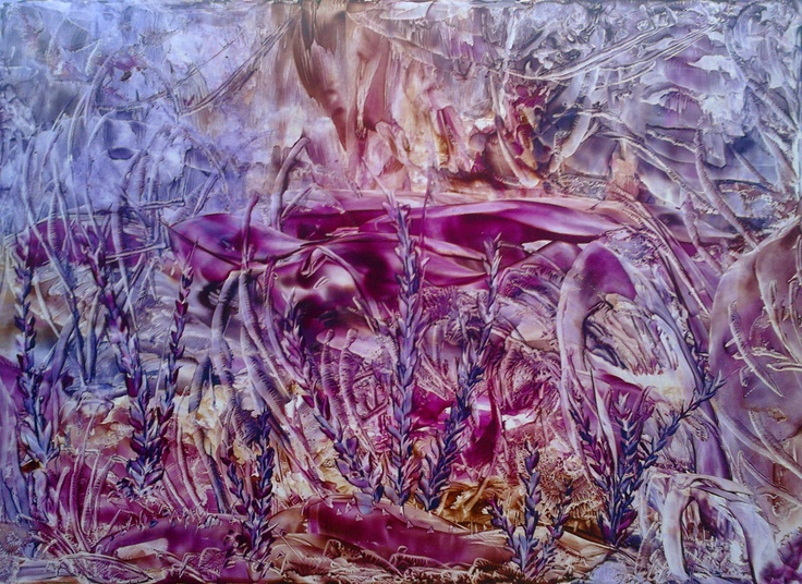Encaustic painting by Samya Hamid (colored beeswax)