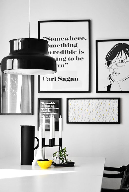 Scandinavian minimalism / wall of poster art