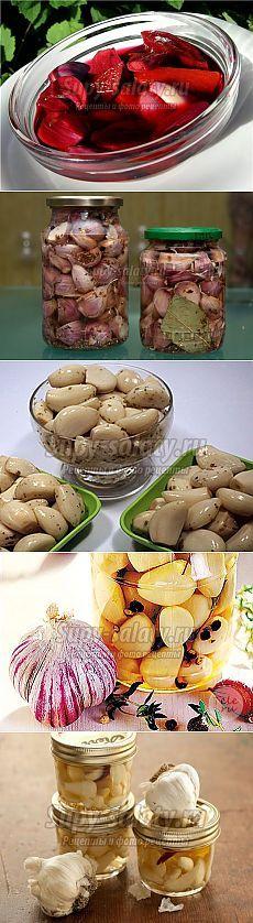 Маринованный чеснок. Лучшие рецепты с фото