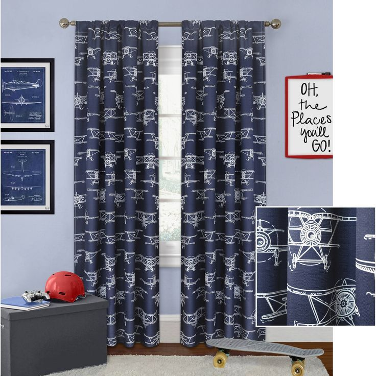 ceb9855d96c218e3fed82db8d2cdcb21 - Better Homes And Gardens Airplanes Curtain Panel