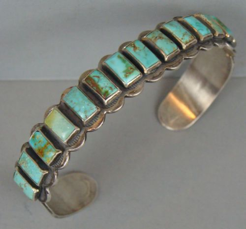 Early-1930s-Vintage-Harvey-Era-NAVAJO-Turquoise-Row-Bracelet