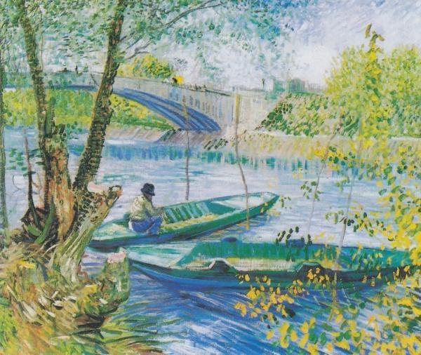 고흐, Pont de Clichy의 어부와 배, 1887
