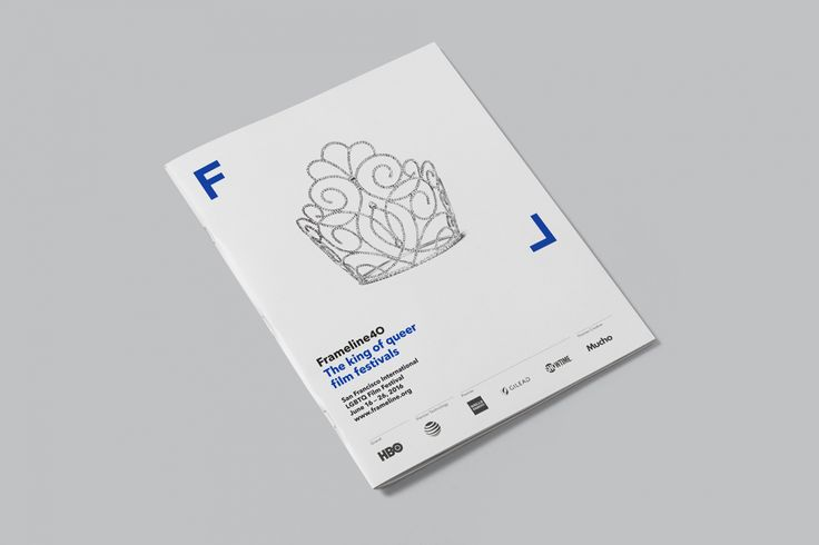 Brand identity and programme designed by Mucho for San Francisco based LGBT film festival and nonprofit arts organisation Frameline.