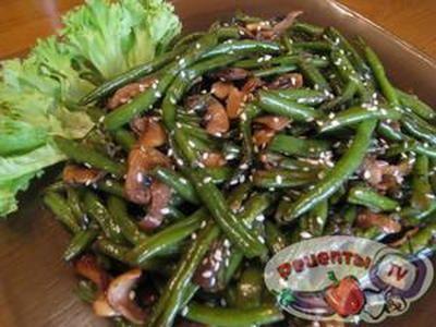 Стручковая фасоль с индейкой салат