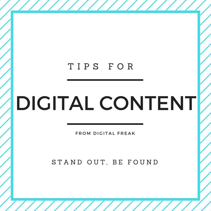 Looking to make some digital content for your business? Find some great tips right here! #DigitalFreak