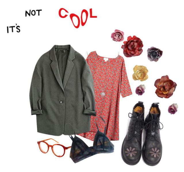 """""""It's not cool"""" by violetteandgrunge ❤ liked on Polyvore featuring Monki, Spitfire, Finn and La Perla"""