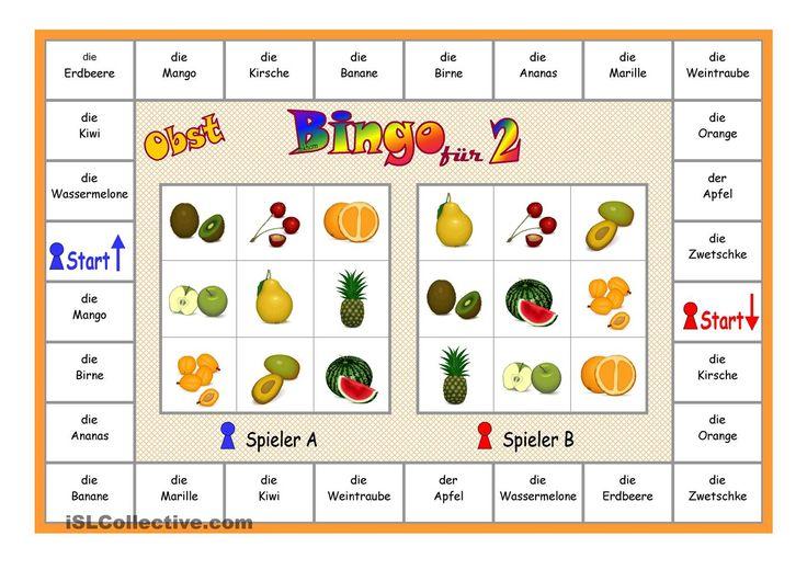 Bingo für 2 Spieler _ Obst von iSLCOLLECTIVE (kostenlos, Rgistrierung notwendig)
