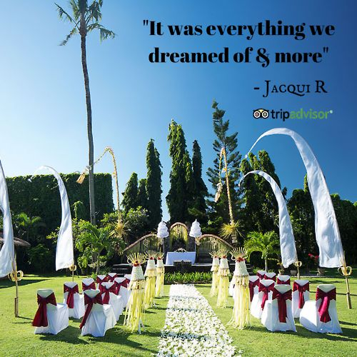 Share your wedding experience at a Sun Island Bali venue on tripadvisor! #bali #baliwedding