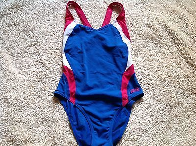 #Zoggs #ladies swimming costume,double layer,blue,pink & white #colour,size 10,  View more on the LINK: 	http://www.zeppy.io/product/gb/2/182156480898/