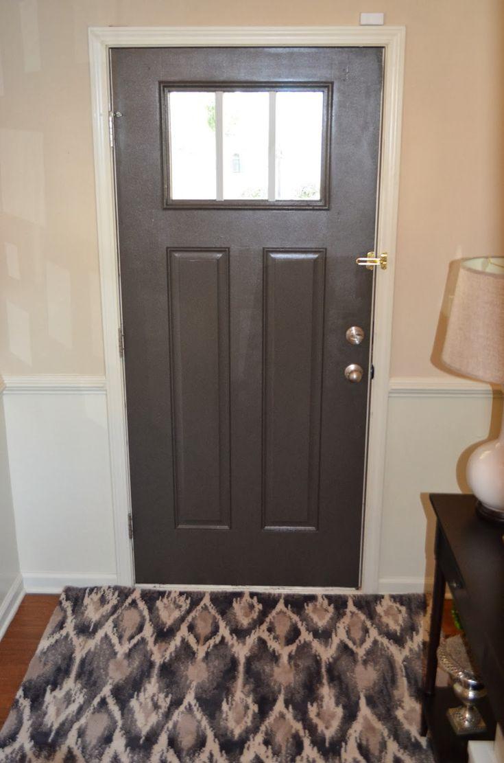 Grey Front Door Sherwin Williams Urbane Bronze The