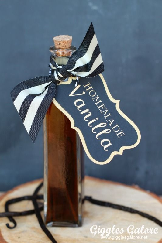 This holiday give Homemade Vanilla Extract, an easy and affordable Christmas gift idea for everyone on your list.